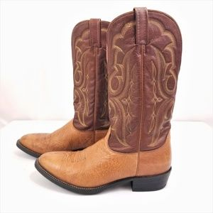 Nocona Cowboy Boots Brown Men 10.5 Western Leather